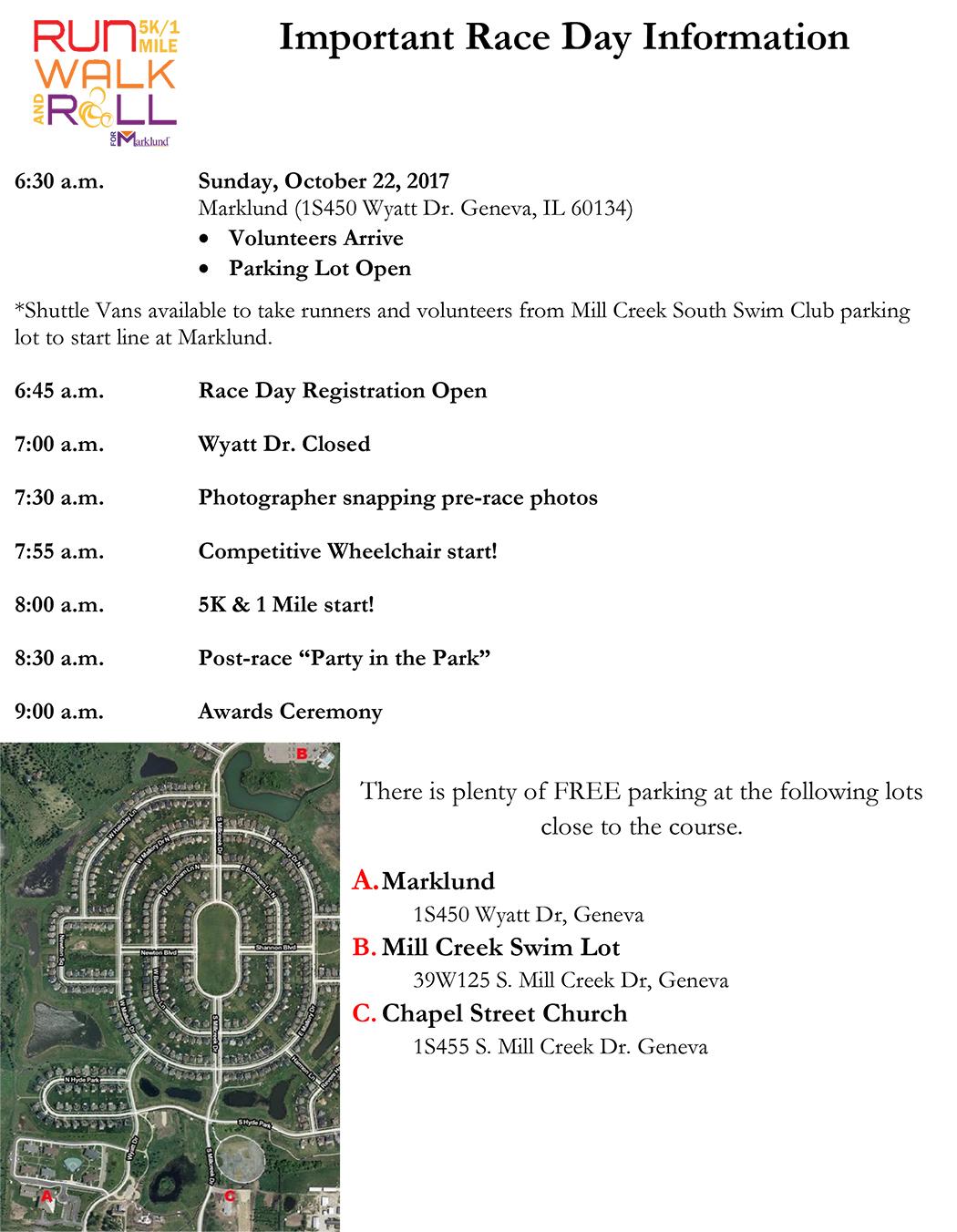 Race Day Info