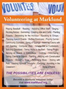 Rewarding Volunteer Opportunity Use >> Volunteer Marklund